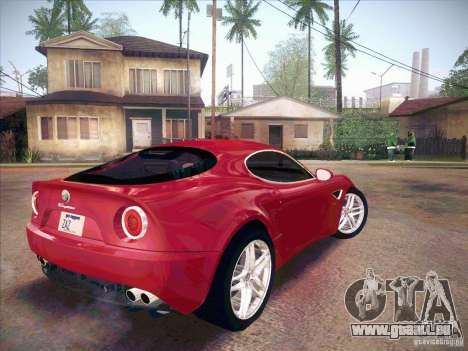 Alfa Romeo 8C Competizione v.2.0 pour GTA San Andreas sur la vue arrière gauche