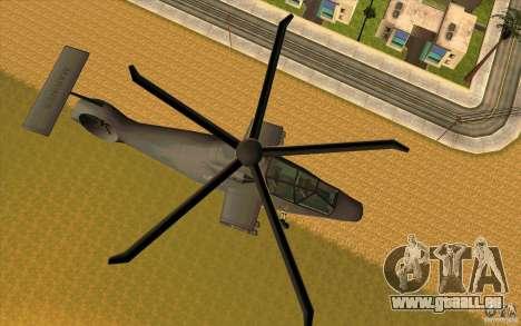 Sikorsky RAH-66 Comanche default grey pour GTA San Andreas laissé vue