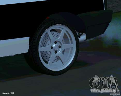 VAZ 2108 Drag pour GTA San Andreas vue de dessous