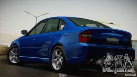 Subaru Legacy 2004 v1.0 pour GTA San Andreas sur la vue arrière gauche