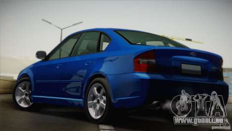 Subaru Legacy 2004 v1.0 für GTA San Andreas zurück linke Ansicht