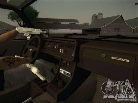VAZ 2107 v2 pour GTA San Andreas vue arrière