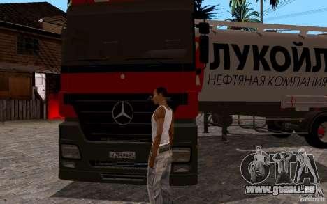 Mercedes-Benz Actros Lukoil für GTA San Andreas Rückansicht