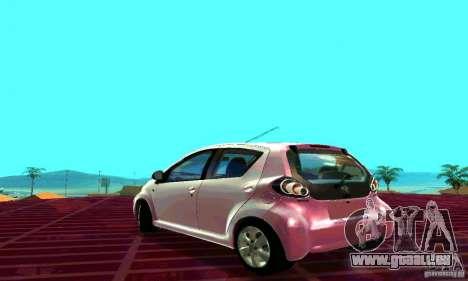 Toyota Aygo V1.0 pour GTA San Andreas laissé vue