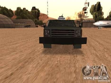 GMC SIERRA 3500 pour GTA San Andreas vue de côté