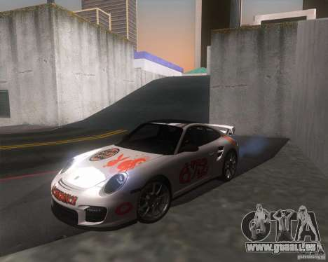 Porsche 911 GT2 (997) für GTA San Andreas Rückansicht