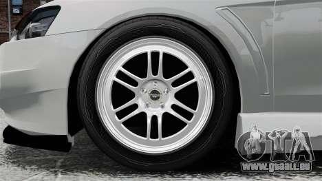 Mitsubishi Lancer Evolution X ToneBee Designs für GTA 4 Rückansicht