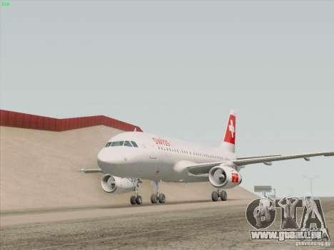 Airbus A319-112 Swiss International Air Lines pour GTA San Andreas salon