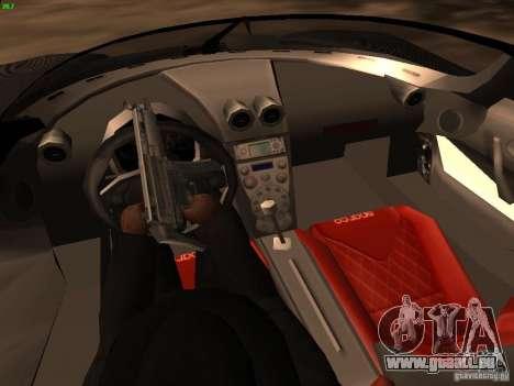 Koenigsegg CCXR Edition für GTA San Andreas Unteransicht