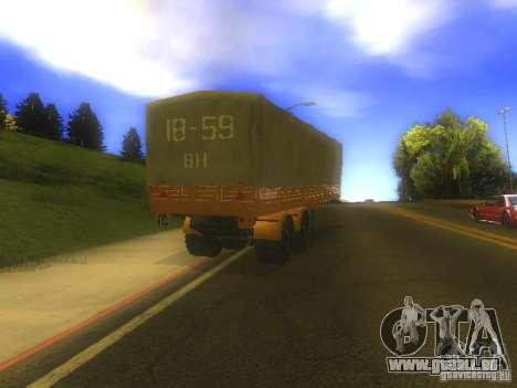 Remorque MAZ 5205 pour GTA San Andreas vue de droite