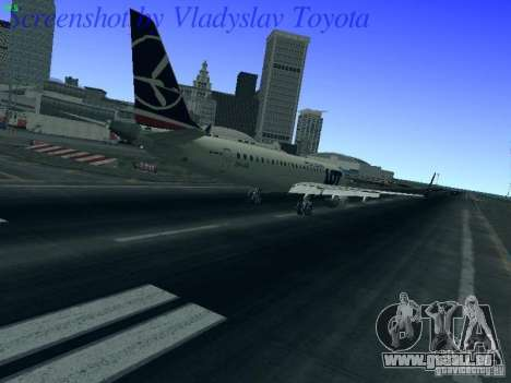 Embraer ERJ 190 LOT Polish Airlines für GTA San Andreas rechten Ansicht