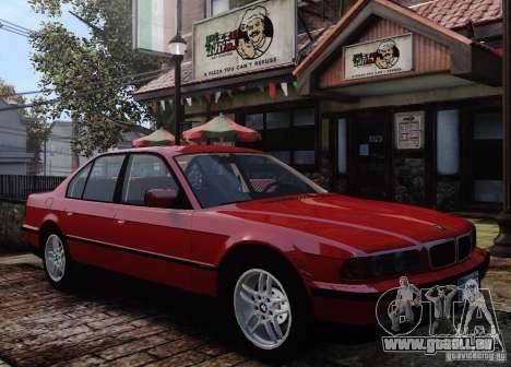 BMW 750i E38 1998 M-Packet pour GTA 4 vue de dessus