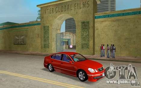 Lexus GS430 pour GTA Vice City vue arrière