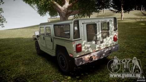Hummer H1 Original pour GTA 4 Vue arrière de la gauche