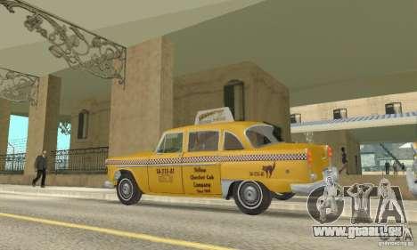 Checker Marathon 1977 Taxi pour GTA San Andreas vue de droite