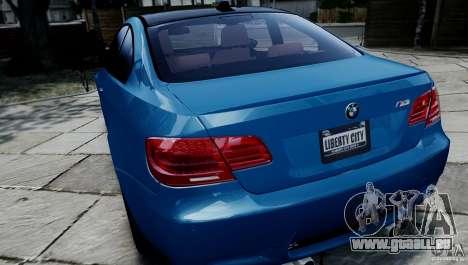 BMW M3 E92 ZCP 2012 pour GTA 4 Vue arrière