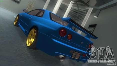 Nissan Skyline GTR-34 pour GTA San Andreas laissé vue