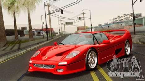 Ferrari F50 v1.0.0 Road Version pour GTA San Andreas sur la vue arrière gauche
