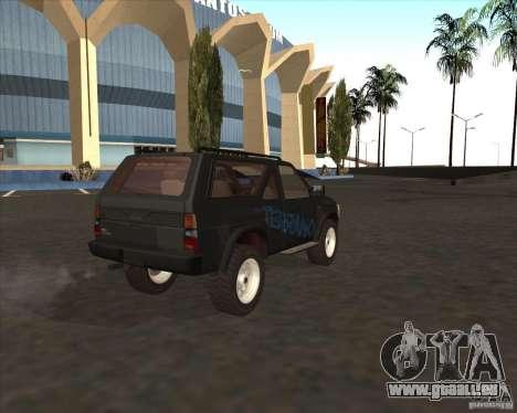 Nissan Terrano pour GTA San Andreas laissé vue