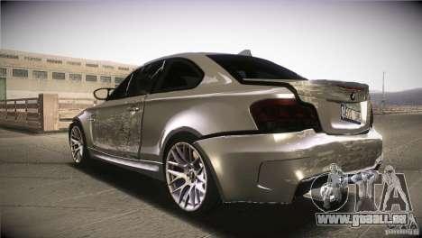 BMW 1M E82 Coupe 2011 V1.0 pour GTA San Andreas vue de dessous