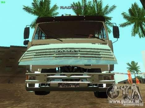 KAMAZ 6460 pour GTA San Andreas vue de côté