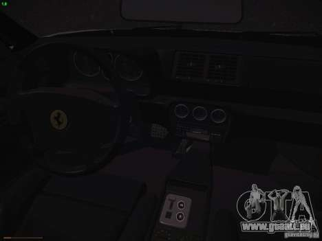 Ferrari F355 Targa für GTA San Andreas Innenansicht