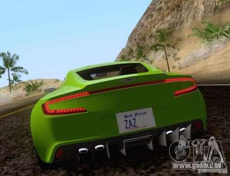 Aston Martin One-77 pour GTA San Andreas laissé vue