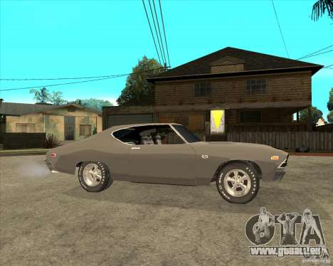 1969 Chevrolet Chevelle pour GTA San Andreas vue de droite