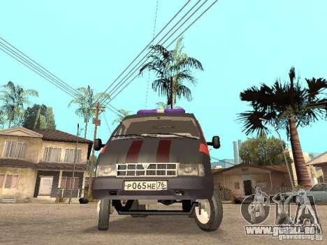 2705 Gazelle Gas service für GTA San Andreas linke Ansicht