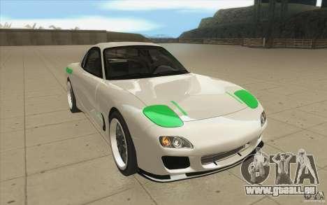 Mazda FD3S - Ebisu Style pour GTA San Andreas vue arrière