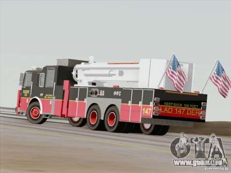 Seagrave Marauder II. SFFD Ladder 147 für GTA San Andreas obere Ansicht