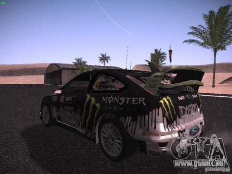 Ford Focus RS Monster Energy pour GTA San Andreas vue de droite