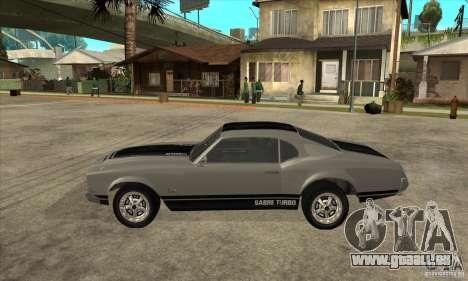 Sabre de GTA 4 pour GTA San Andreas laissé vue