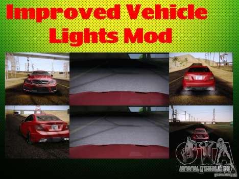 Improved Vehicle Lights Mod für GTA San Andreas