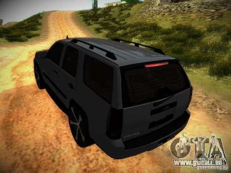 Chevrolet Tahoe HD Rimz pour GTA San Andreas vue de dessus