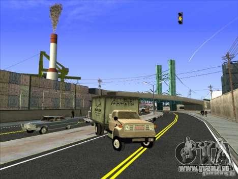 Yankee auf der Grundlage von GMC für GTA San Andreas linke Ansicht