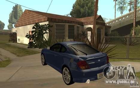 Hyundai Tiburon Jc2 pour GTA San Andreas sur la vue arrière gauche