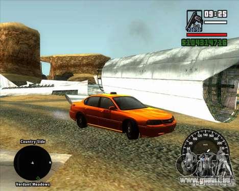 Nouveau compteur de vitesse BMW pour GTA San Andreas deuxième écran