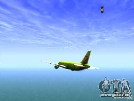 Airbus A-320 S7Airlines pour GTA San Andreas vue de côté
