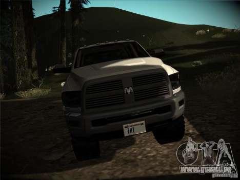 Dodge Ram 3500 4X4 pour GTA San Andreas vue arrière