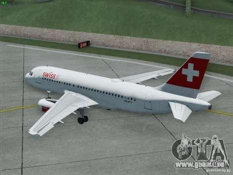 Airbus A319-112 Swiss International Air Lines pour GTA San Andreas vue de dessus