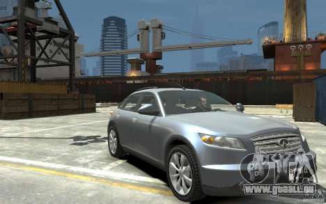 Infiniti FX45 für GTA 4 Rückansicht