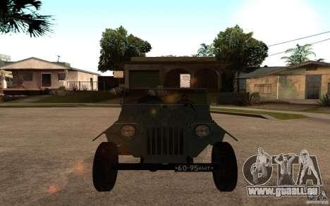 GAZ 67 b pour GTA San Andreas vue de droite