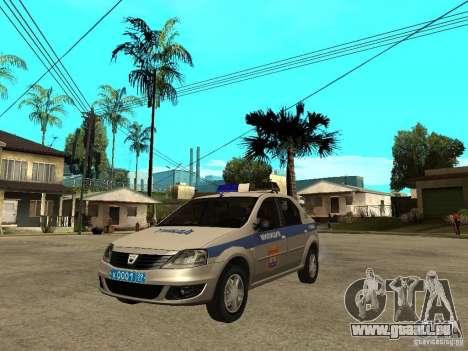 Dacia Logan Police für GTA San Andreas