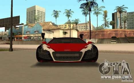 Audi R8 Le Mans Quattro pour GTA San Andreas vue de dessous