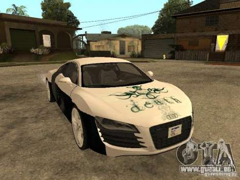 Audi R8 pour GTA San Andreas vue de côté