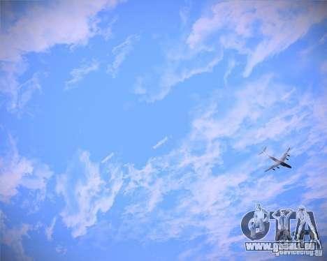 Real Clouds HD pour GTA San Andreas troisième écran