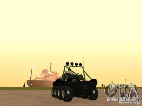 Véhicule tout-terrain Argo Avenger pour GTA San Andreas sur la vue arrière gauche