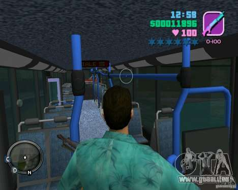 Marcopolo Bus pour une vue GTA Vice City d'en haut