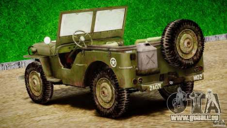 Jeep Willys [Final] für GTA 4 obere Ansicht